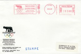1987 Rome OLYMPIC PHILATELIC EXHIBITION Event COVER Illus METER SLOGAN Olymphilex WOLF Olympics Games Stamps Italy - Olympic Games
