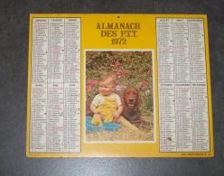 1972 ALMANACH CALENDRIER DES P.T.T, PTT, POSTE, CARTIER BRESSON, NORD 59 - Calendars
