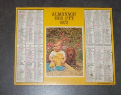 1972 ALMANACH CALENDRIER DES P.T.T, PTT, POSTE, CARTIER BRESSON, NORD 59 - Calendriers