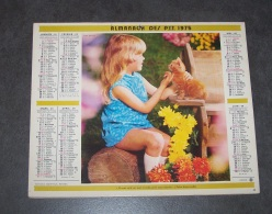 1975 ALMANACH CALENDRIER DES P.T.T, PTT, POSTE, OBERTHUR, ARDENNES 08 - Calendars