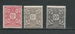 HAUTE-VOLTA Scott J12, J13, J16 Yvert Taxe 12, 13, 17 * Cote 4,60$ 1928 - Opper-Volta (1920-1932)