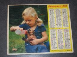 1979 ALMANACH CALENDRIER DES P.T.T, PTT, POSTE, OBERTHUR, MARNE 51 - Calendars