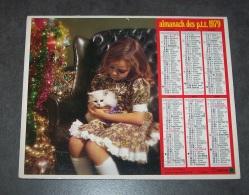 1979 ALMANACH CALENDRIER DES P.T.T, PTT, POSTE, OBERTHUR, ARDENNES 08 - Calendars