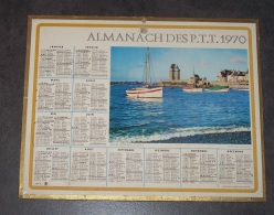 1970 ALMANACH CALENDRIER DES P.T.T, PTT, POSTE, OBERTHUR, ST SAINT SERVAN - Grand Format : 1961-70