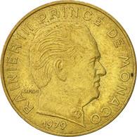 Monaco, Rainier III, 20 Centimes, 1979, TTB, Aluminum-Bronze, KM:143 - 1960-2001 Nouveaux Francs