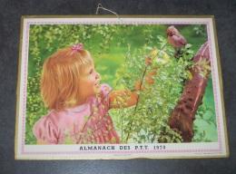 1970 ALMANACH CALENDRIER DES P.T.T, PTT, POSTE, ARDENNES 08 - Big : 1961-70