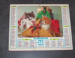 1978 ALMANACH CALENDRIER DES P.T.T, PTT, POSTE, ARDENNES 08, JEAN LAVIGNE - Calendars