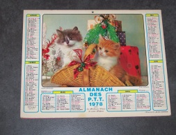 1978 ALMANACH CALENDRIER DES P.T.T, PTT, POSTE, ARDENNES 08, JEAN LAVIGNE - Calendriers