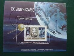 Cuba Espace Premier Satellite Artificiel K.E.Tsiolkovski Théoricien Des Fusées - Space