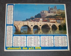 1978 ALMANACH CALENDRIER DES P.T.T, PTT, POSTE, BEZIERS, LA VALLEE DU LOIRET, ARDENNES 08, OBERTHUR - Calendars