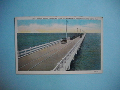 TAMPA  -  Gandy Bridge Spanning  Tampa Bay Between.....   -  Floride   -  Etats Unis - Tampa