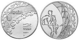Ukraine - 2 Hryvni 2001 AUNC+ Hockey 19th Winter Olympic Games Salt Lake City - Ukraine