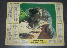 1980 ALMANACH CALENDRIER DES P.T.T, PTT, POSTE, LA PECHE, LA CHASSE, LAVIGNE, ARDENNES 08 - Calendars
