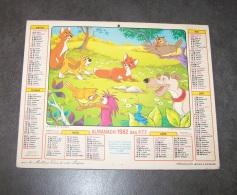 1982 ALMANACH CALENDRIER DES P.T.T, PTT, POSTE, WALT DISNEY PRODUCTIONS, PINOCCHIO, LAVIGNE, ARDENNES 08 - Calendriers