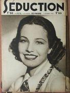 Séduction N°223 (5 Fév 1938) Femmes Nues - L'école De La Séduction - Boeken, Tijdschriften, Stripverhalen