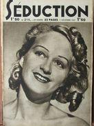 Séduction N°215 (11 Déc 1937) Femmes Nues - L'école De La Séduction - Boeken, Tijdschriften, Stripverhalen
