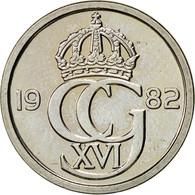 Suède, Carl XVI Gustaf, 25 Öre, 1982, SUP, Copper-nickel, KM:851 - Suède