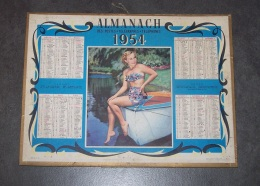 1954 ALMANACH CALENDRIER DES P.T.T, PTT, POSTE, OLLER - Calendriers