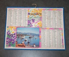 1957 ALMANACH CALENDRIER DES P.T.T, PTT, POSTE, OLLER, PORT MEDITERRANEEN - Calendars