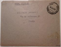France Guerre 1939-45 Base Navale Italienne De Bordeaux 1944 Lettre (Italia Emissioni Locali Base Atlantica Cover Brief - Kriegsausgaben