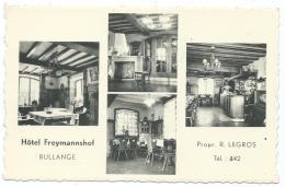 CPSM BULLANGE, HOTEL FREYMANNSHOF, PROPRIETAIRE R. LEGROS, Format 9 Cm Sur 14 Cm Environ, BELGIQUE - Bullange - Buellingen