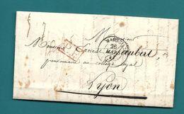 Bouches Du Rhone- Marseille Pour Un Pensionnaire Au Collège Royal De Lyon. 1841 - Marcophilie (Lettres)
