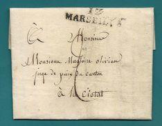 Bouches Du Rhone- Marseille Pour La Ciotat. LAC De 1827 - Marcophilie (Lettres)