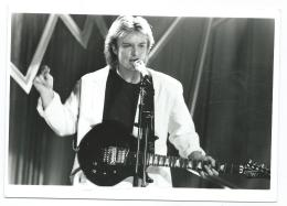 PHOTO DE PRESSE DAVID HALLYDAY, SPECIAL NUIT DES ELECTIONS AMERICAINES 1988 - Célébrités
