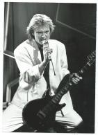 PHOTO DE PRESSE DAVID HALLYDAY, LAHAYE D'HONNEUR, 1987 - Berühmtheiten