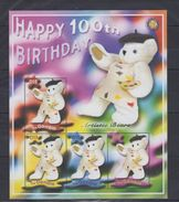 Gambie 2002 - 100 Ans De Teddy Bear, Nounours - 4 Val Neufs // Mnh // CV €16 - Gambie (1965-...)