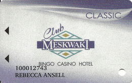 Meskwaki Casino - Tama IA USA - Slot Card - Casino Cards