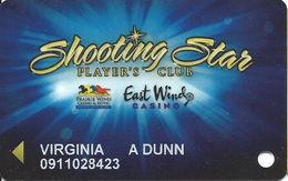 Prairie Wind & East Wind Casinos - Pine Ridge, SD - Slot Card - Casino Cards