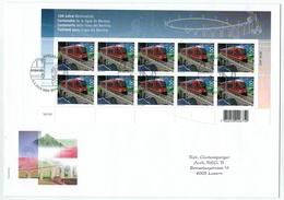 Suisse /Schweiz/Svizzera/Switzerland // FDC // 2010 // 100 Ans De La Ligne De La Bernina En Feuillet Sur Lettre  No.1350 - FDC