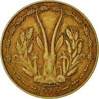 West African States, 10 Francs, 1976, TTB, Aluminum-Nickel-Bronze, KM:1a - Ivory Coast