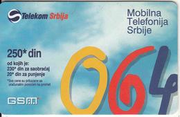 SERBIA - Telecom Srbija Prepaid Card 250 Din, Exp.date 12/00, Used - Yugoslavia