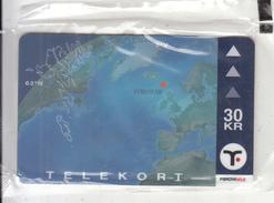 FAROE ISL. - Map Of Faroe Islands(33), Tirage 15000, 12/00, Mint - Faroe Islands