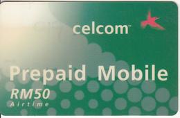 MALAYSIA - Celcom Prepaid Card RM 50, Exp.date 02/04, Used - Malaysia