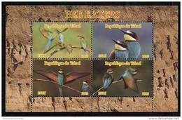 BIRDS,**NEW ISSUE**HUMMINGBIRDS,Bee Eaters SOUVENIR SHEET 4 STAMPS,MINT,MNH,#DA110 - Other