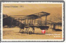 HONG KONG - Old Airplane, Farman II-1911, Hong Kong Telecom Telecard $100, Tirage 5000, 12/95, Used - Hong Kong