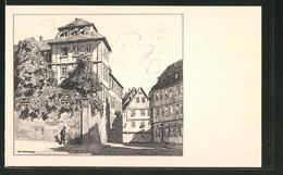 Künstler-AK Otto Ubbelohde: Fulda, Pfandhaus-Strasse - Ubbelohde, Otto