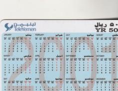 CALENDRIER 2001 - Yemen