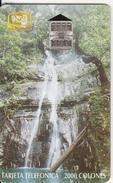 COSTA RICA - Waterfall, Tirage 80000, 08/97, Used - Costa Rica
