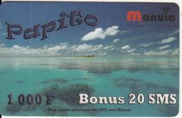 WALLIS & FUTUNA - Seascape, Papito By Manuia Prepaid Card 1000F, Used - Wallis And Futuna