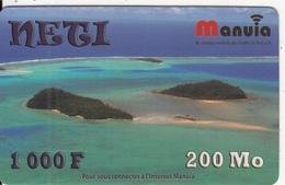 WALLIS & FUTUNA - The Islands, Neti By Manuia Prepaid Card 1000F, Used - Wallis And Futuna