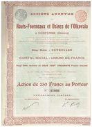 Action Ancienne - Hauts Fourneaux Et Usines De L'Olkovaïa  à Ouspensk (Donetz) -Titre De 1897 - Russie