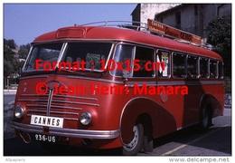Reproduction D'une Photographie D'un Ancien Bus Delahaye Ligne Cannes à Vallauris En 1967 - Reproductions