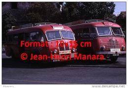 Repro D'une Photographie De Profil De Deux Anciens Bus Delahaye Ligne Cannes à Vallauris Et Vallauris Golfe Juan En 1967 - Reproductions