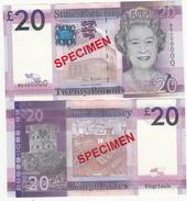 Jersey Banknote Twenty Pound (Pick 35s) SPECIMEN Overprint Code BD - Superb UNC Condition - Jersey