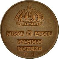 Suède, Gustaf VI, 2 Öre, 1953, TTB, Bronze, KM:821 - Suède