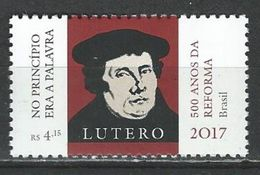 Brazil. Scott #  3351 MNH. 500th Years Of Reform Martin Luther. Joint Issue With Germany 2017 - Joint Issues